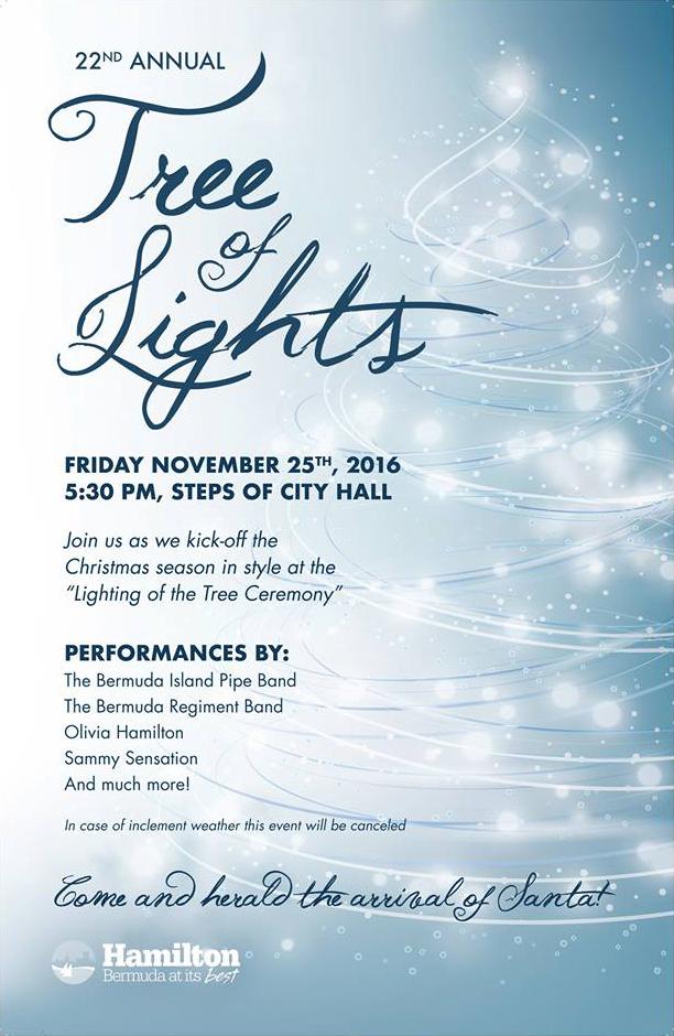 Tree of Lights Bermuda Nov 2016