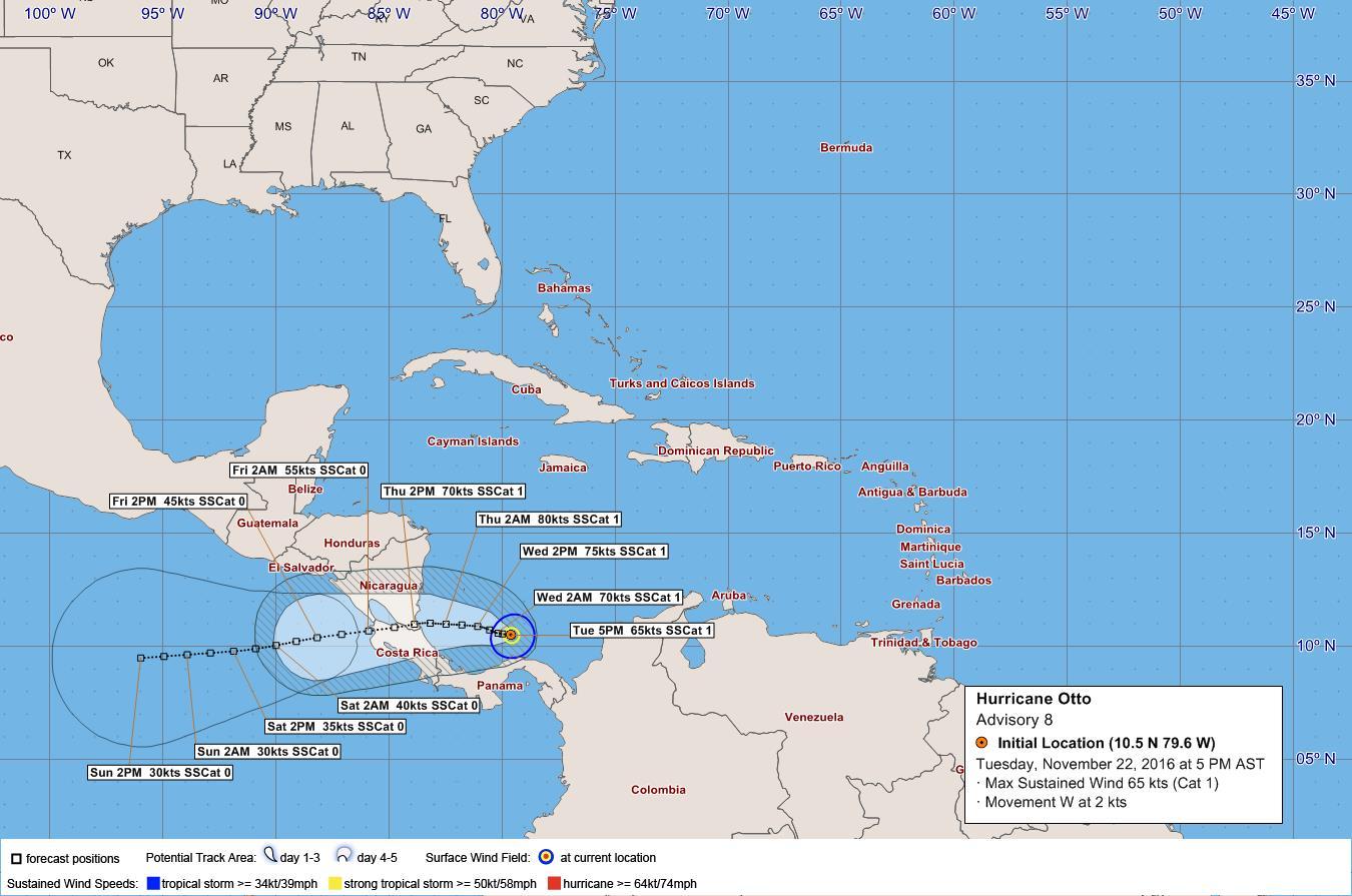 hurricane otto nov 2016 bws