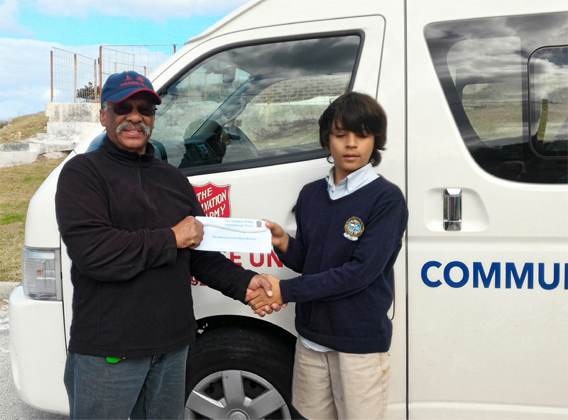 Chatmore Prep Donates to Salvation Army Bermuda Dec 15 2016