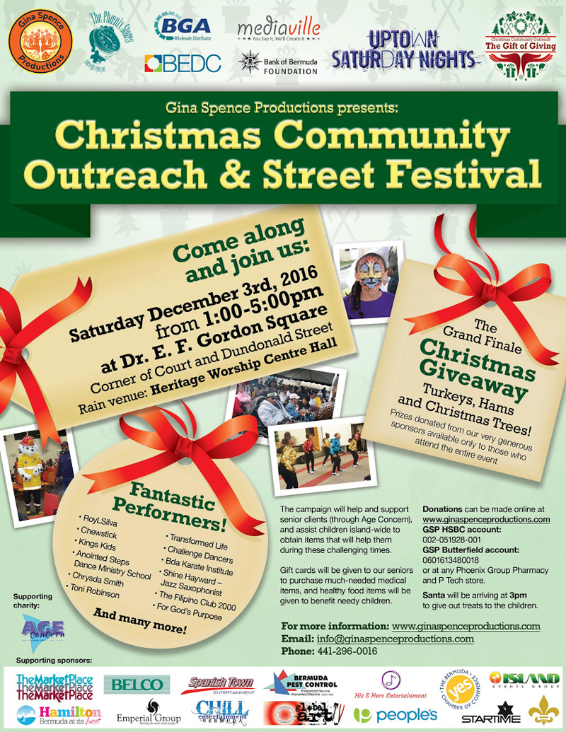 Christmas Community Outreach Bermuda December 2016