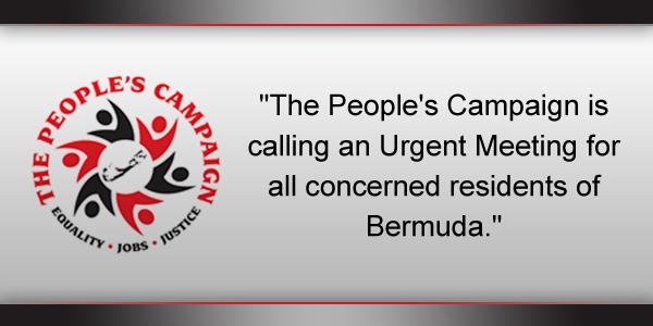Peoples Campaign Bermuda December 31 2016