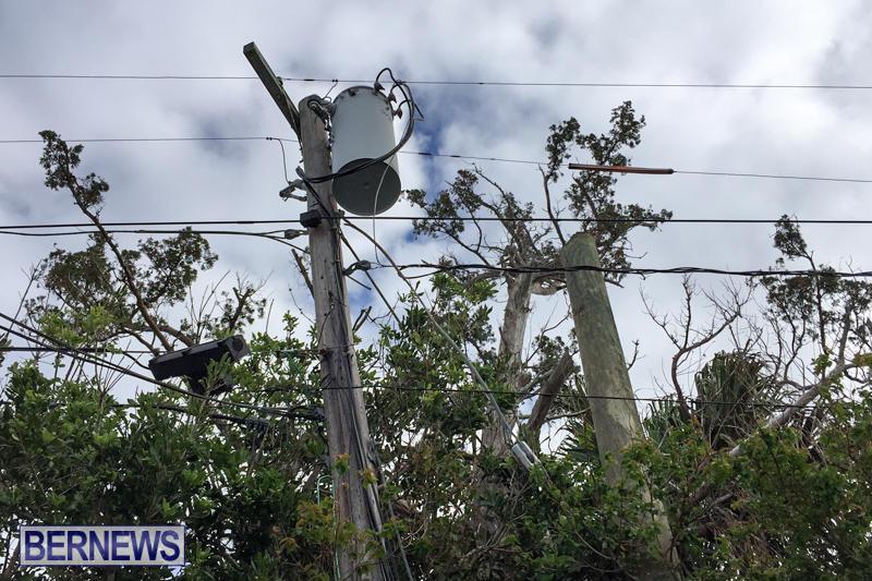 Utility Pole Fire Bermuda, December 17 2016-6
