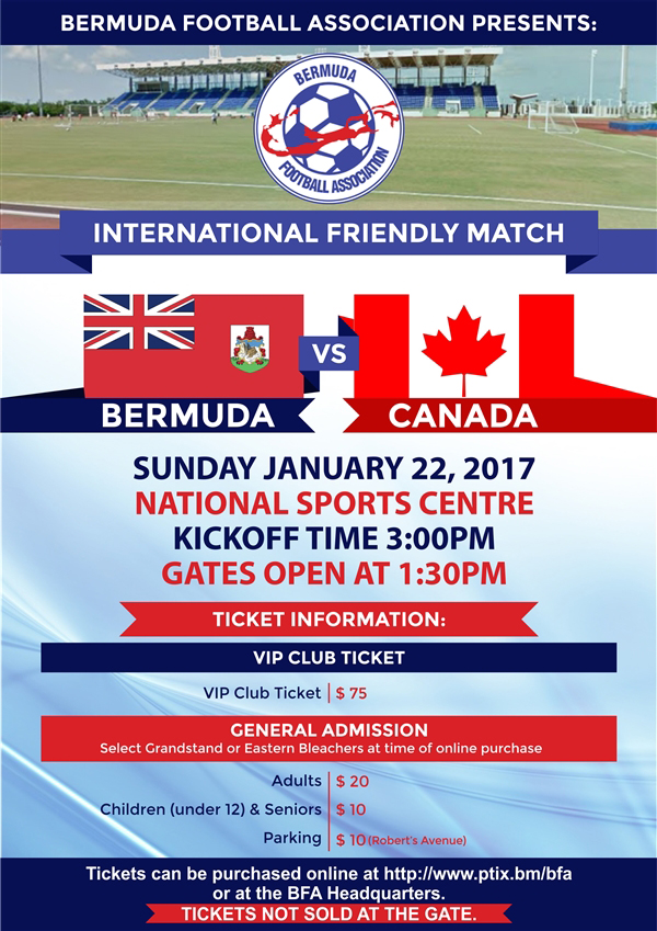 BFA vs Canada Bermuda January 2017