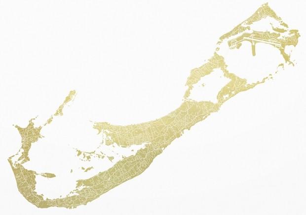 Ewan David Eason - Mappa Mundi Bermuda (America's Cup) - courtesy of TAG Fine Arts