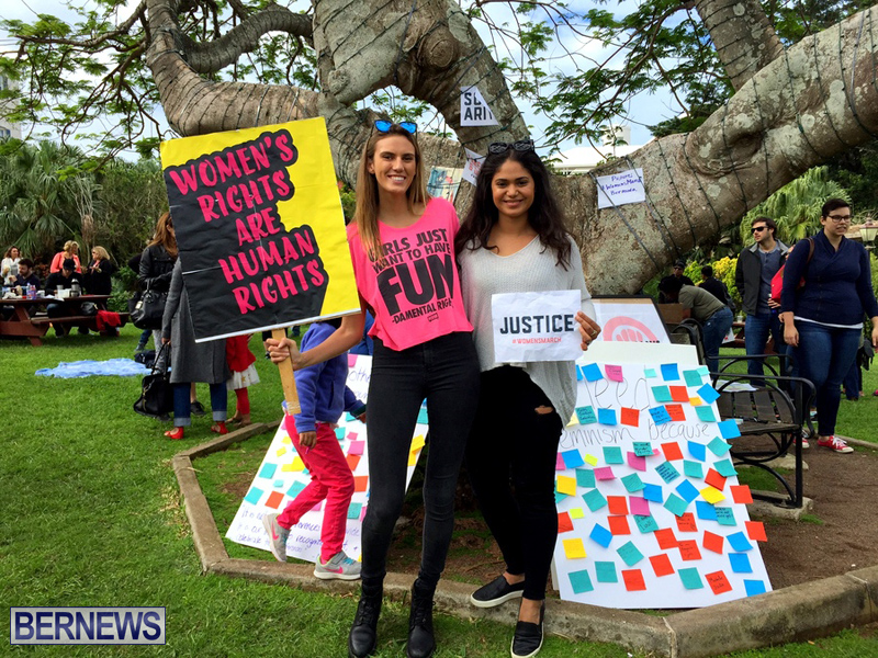 Gathering To Support Women's March Bermuda Jan 21 2017 (1)