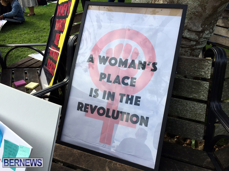 Gathering To Support Women's March Bermuda Jan 21 2017 (7)