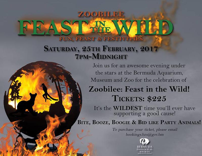 Zoobilee Feast in the Wild Bermuda January 2017