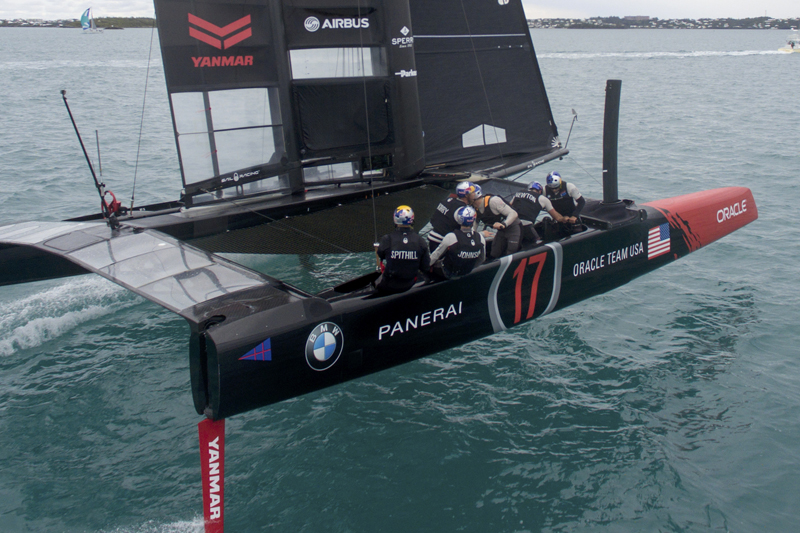 ORACLE TEAM USA training in Bermuda for the AC45S