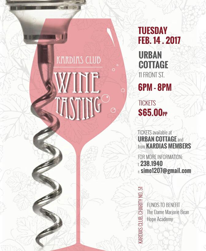 Kardias Club Wine Tasting Bermuda February 2017