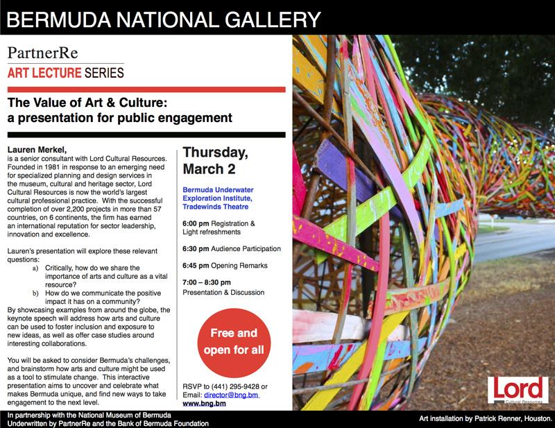 PartnerRe Art Lecture Series Bermuda February 2017