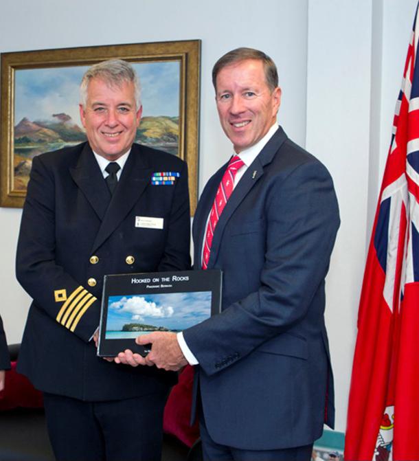 Premier and RFA Commander Bermuda Feb 16 2017