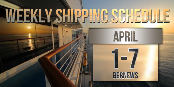 Weekly Shipping Schedule Bermuda TC April 1 - 7 2017