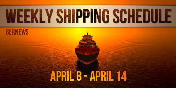 Weekly Shipping Schedule Bermuda TC April 8 - 14 2017