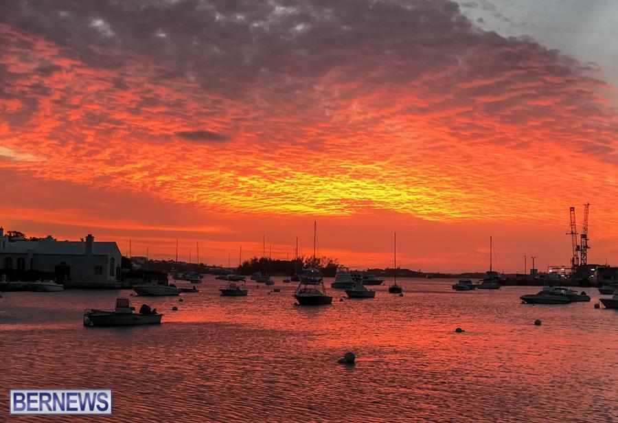 354 A beautiful sunset from Hamilton, Bermuda