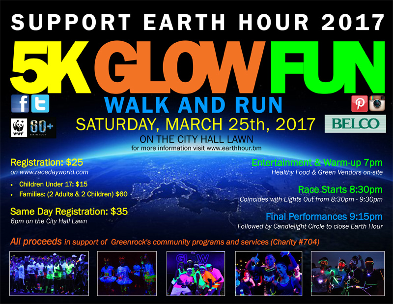 5K Glow Fun Walk and Run Bermuda March 21 2017