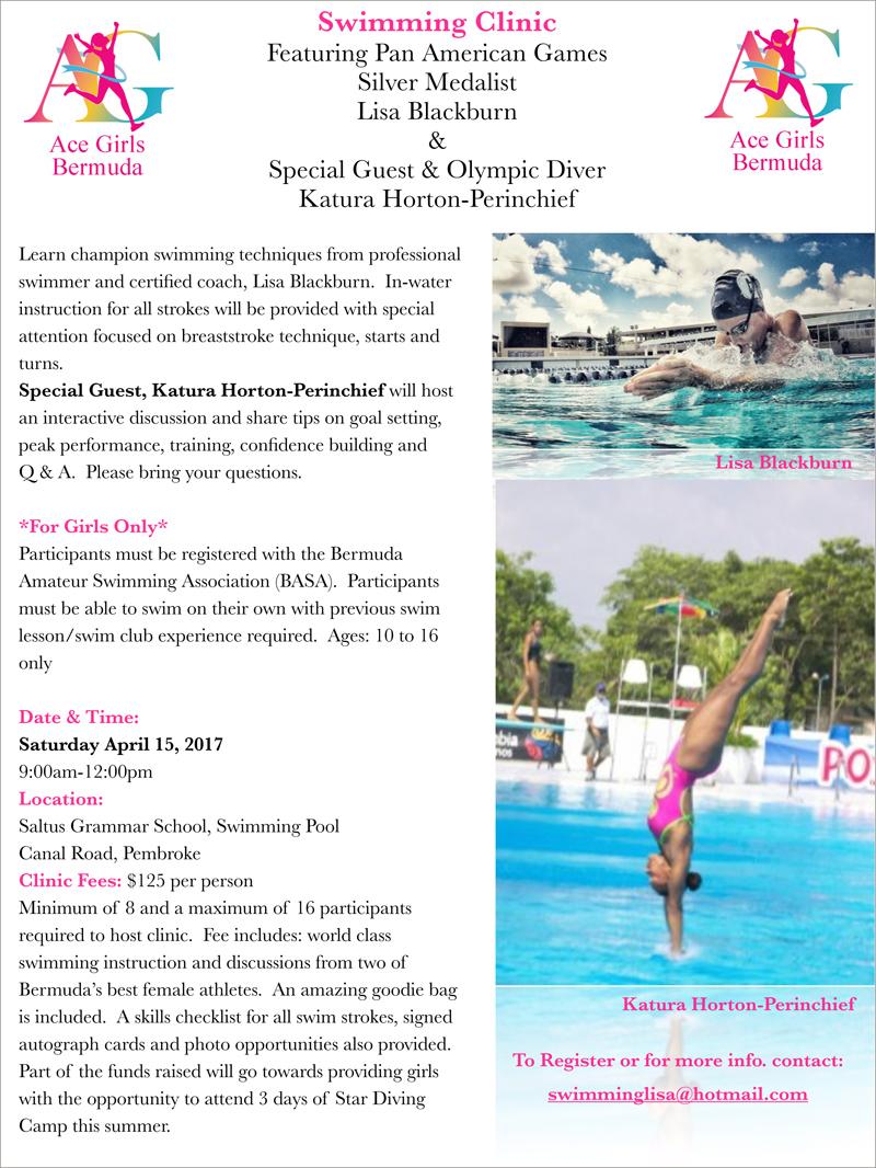 Bermuda Swim & Dive Clinic Info
