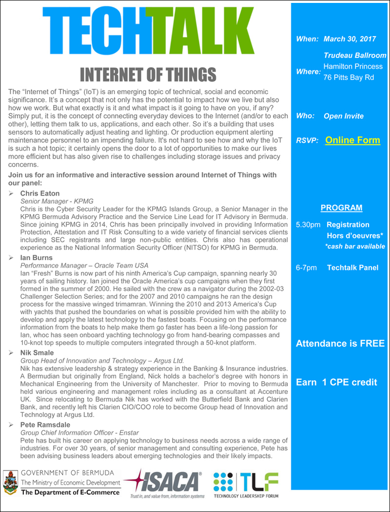 Internet of Things TechTalk March 30 2017