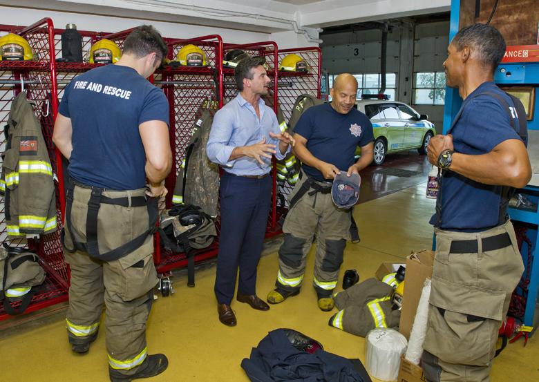 Minister Baron and Fire Service Bermuda March 9 2017 (1)