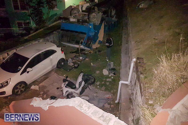 Overturned Truck Southampton Bermuda, March 29 2017-7