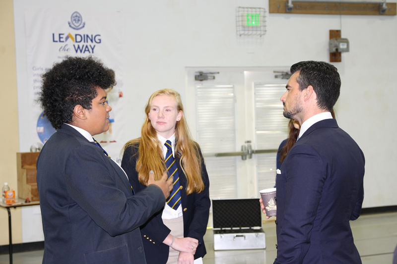 Senator Baron with Head Students Bermuda March 20 2017