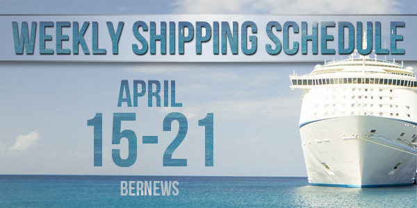 Weekly Shipping Schedule Bermuda TC April 15 - 21 2017