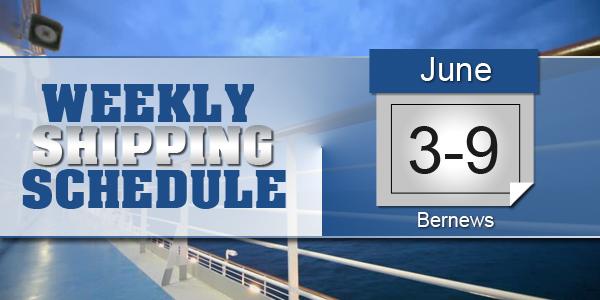 Weekly Shipping Schedule Bermuda TC June 3 - 9 2017