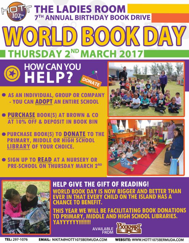 World Book Day Bermuda March 2017