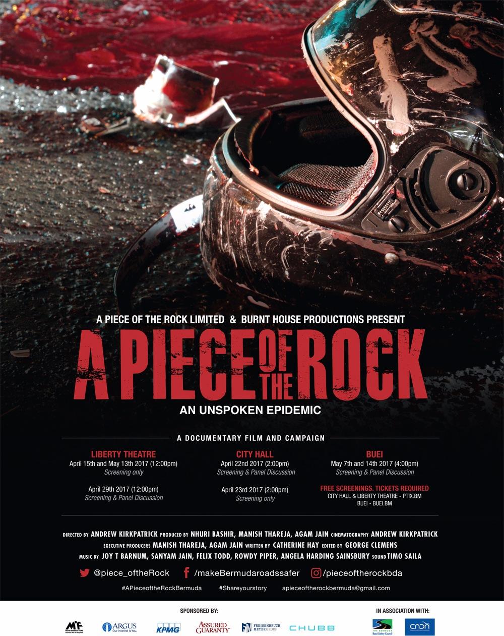 A Piece Of The Rock Screenings Bermuda April 13 2017