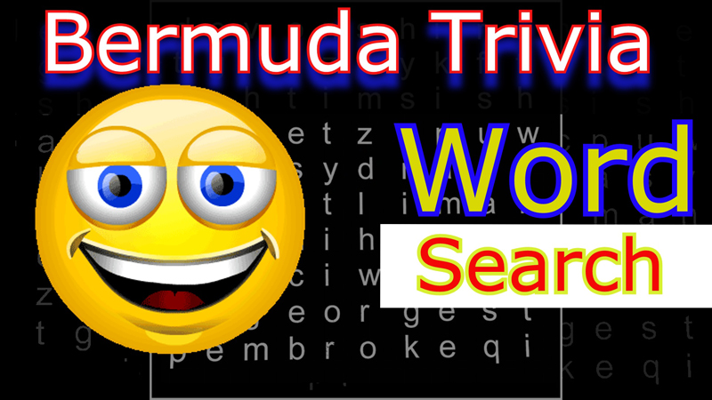 Bermuda Trivia Word Search April 2017