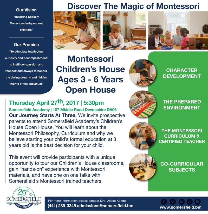 Montessori Children's House Bermuda April 2017