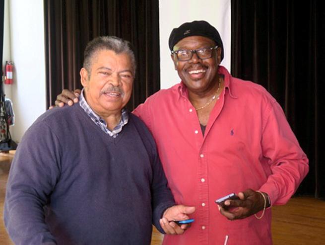 Seniors Tea Gene Steede & Wendell 'Shine' Hayward Bermuda April 13 2017 (2)