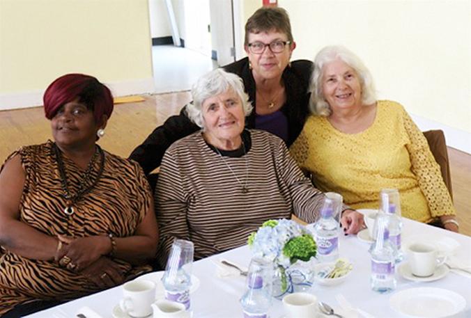 Seniors Tea Olive Dill, Patricia Brunn, Judy Knight & Sylvia Nelmes Bermuda April 13 2017 (1)