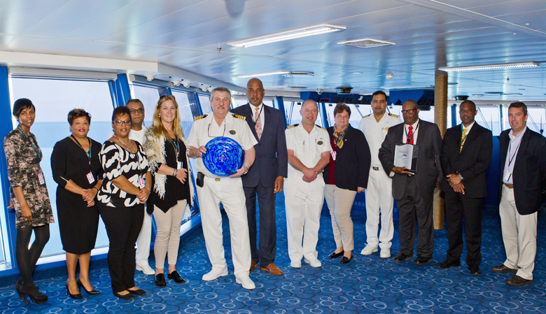 TOURISM MINISTER FIRST INAUGURAL CRUISE 2017 NORWEGIAN EPIC Bermuda April 4 2017 (4)