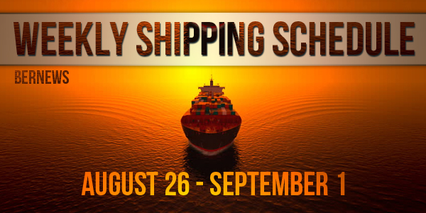 Weekly Shipping Schedule TC August 26 - September 1 2017