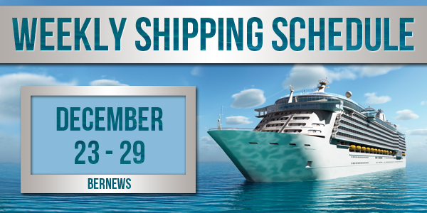 Weekly Shipping Schedule TC December 23 - 29 2017