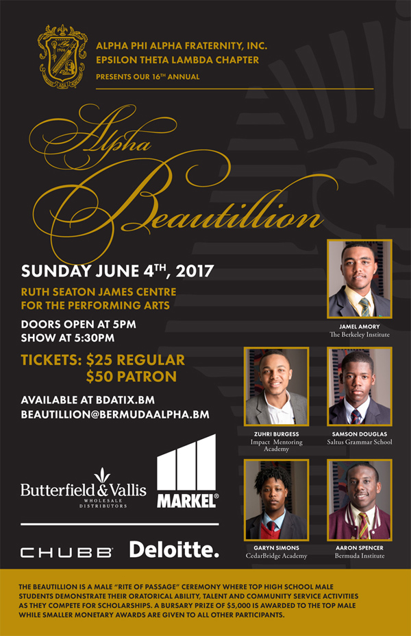 Alpha Beautillion Bermuda May 2017