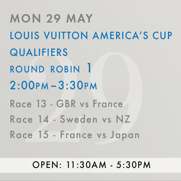 Americas Cup May 29 2017 AC schedule