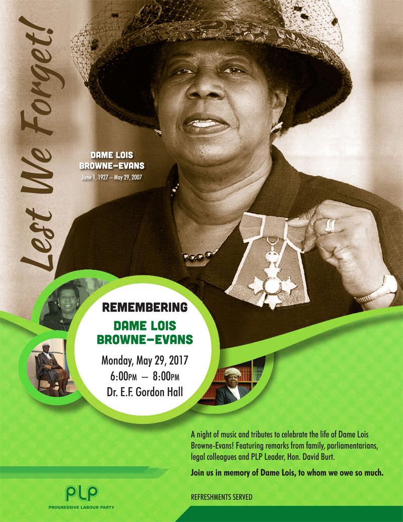 Dame Lois Browne-Evans Bermuda May 2017