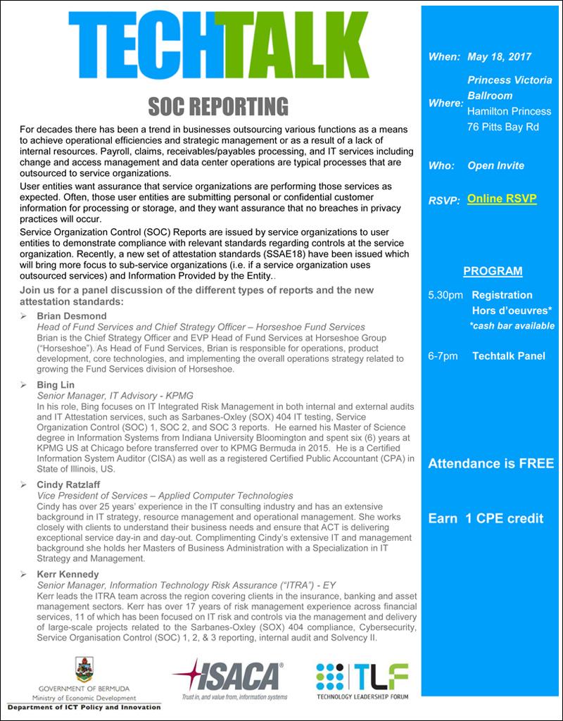 SOC Reporting TechTalk Bermuda May 2017
