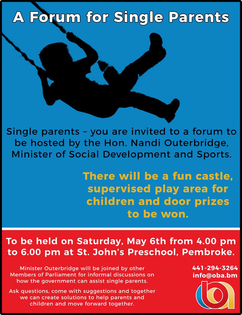 Single Parent forum Bermuda May 2017