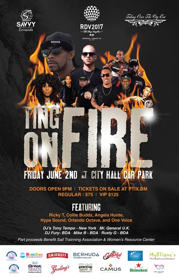 Ting On Fire & Collie Buddz Concert Bermuda May 2017