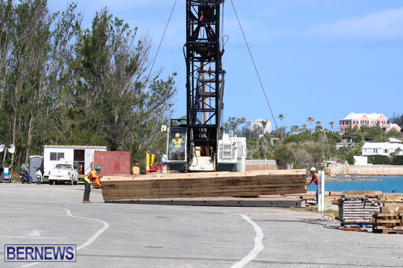 Trucks and cranes at Marginal Wharf Bermuda May 16 2017 (3)