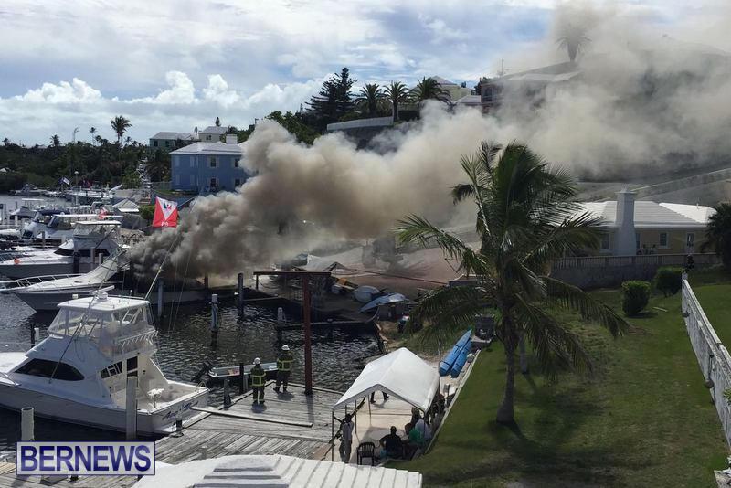 Boat Fire Bermuda, June 27 2017 (1)