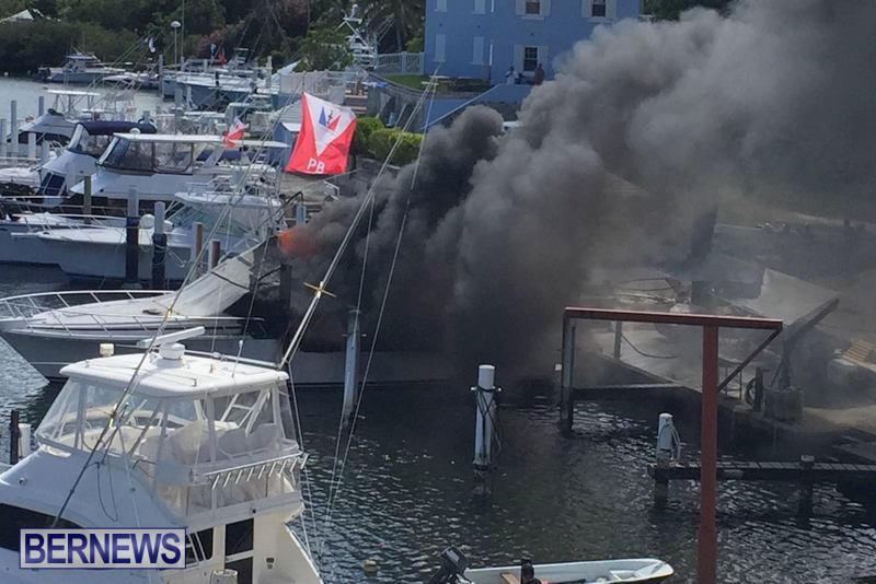 Boat Fire Bermuda, June 27 2017 (2)