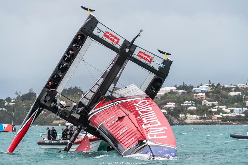 Emirates Team New Zealand Capsize In Bermuda June 6 2017
