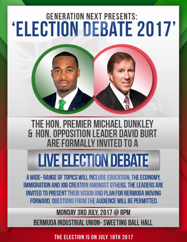 Generation Next Election Debate Bermuda June 2017