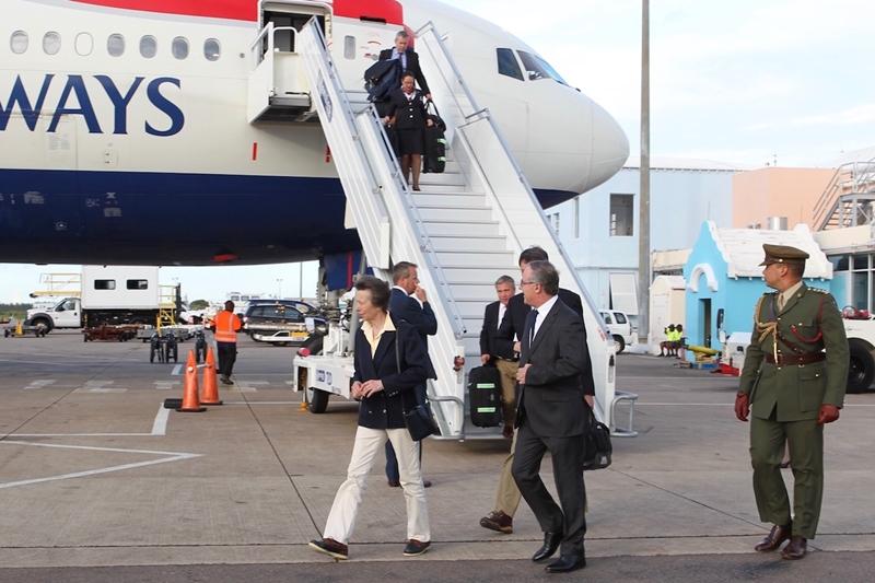 Princess Royal's Arrival in Bermuda 25 June (4)