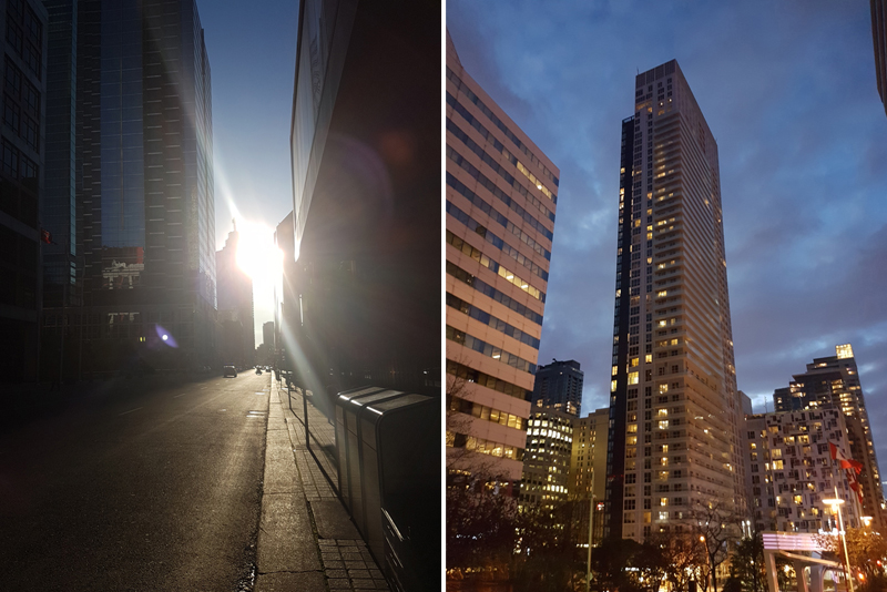 Walk to work and Our building we live in June 2017
