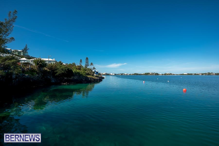 286 Harrington Sound looks gorgeous on a calm Bermuda blue sunny day.