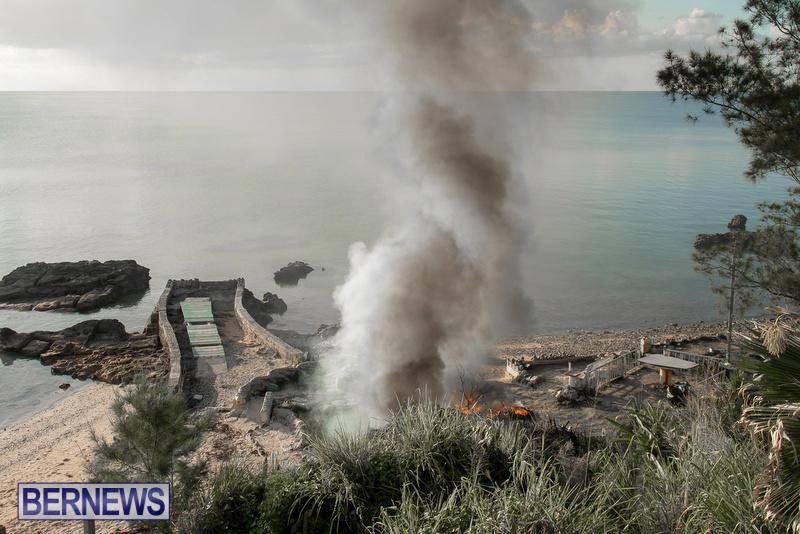 Boat Brush Fire Dockyard Bermuda, July 13 2017 (2)